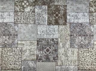 4e8cc5ec2f71 Látka bavlna šedohnedý patchwork empty